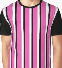 Black, Pink and White Liquorice Allsorts Inspired Print Graphic T-Shirt