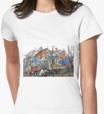 Hundertwasser House Vienna Womens Fitted T-Shirt