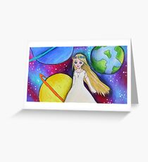 Galaxy Bride drawing Greeting Card