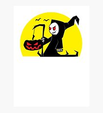 Halloween Reaper Photographic Print