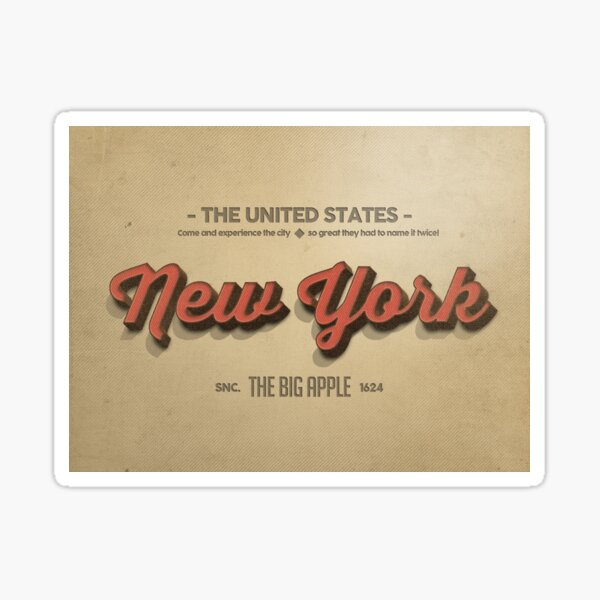 Vintage New York 1 Sticker