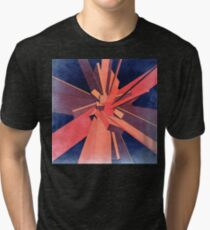 Vintage Orange Rectangles Tri-blend T-Shirt