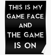 Sherlock This is my game face Poster