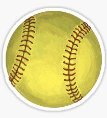 Pegatina Arte del softbol pintado