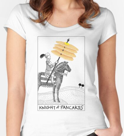 Knight of Pancakes Breakfast Tarot Women's Fitted Scoop T-Shirt