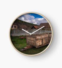 Rural scene Clock