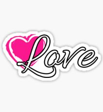 Love and heart Sticker