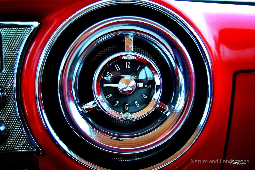 Pontiac 1954 Clock by Nathan Little