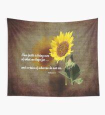 Faithful Sunflower Wall Tapestry