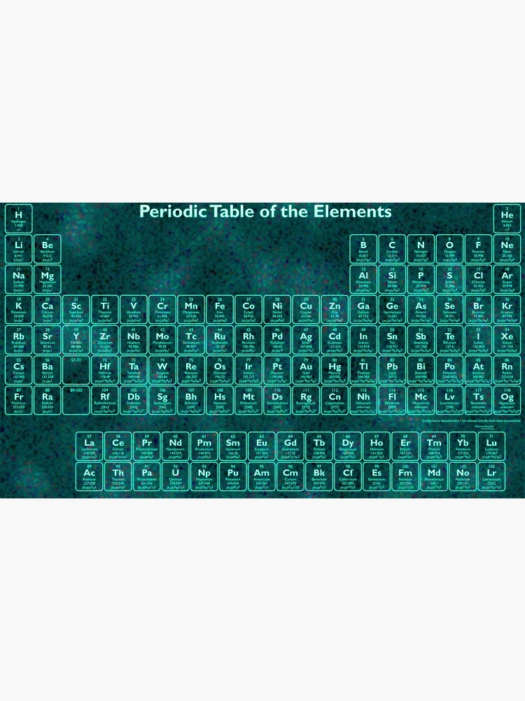 Glow Effect Periodic Table (118 Elements) by sciencenotes