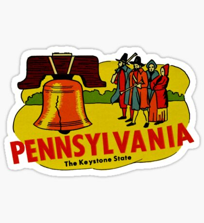 Pennsylvania PA The Keystone State Vintage Travel Decal Sticker