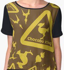 Chocobo print Women's Chiffon Top