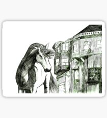 Horse and Cottage Sticker