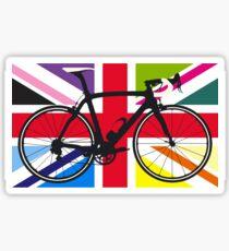 Bike Flag United Kingdom (Multi Coloured) (Big - Highlight) Sticker