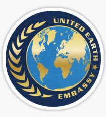 United Earth Embassy Sticker