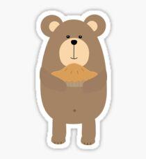 Brown Bear with pie Sticker