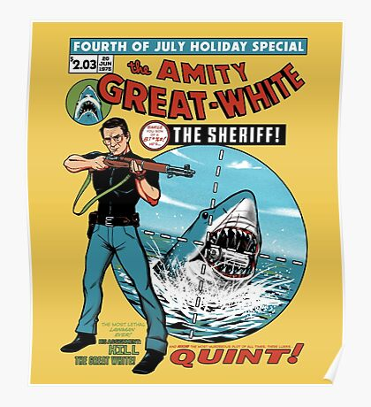 The Amity Great White Poster