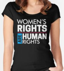 Women's Rights are Human Rights: Womens March Women's Fitted Scoop T-Shirt