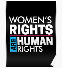 Women's Rights are Human Rights: Womens March Poster