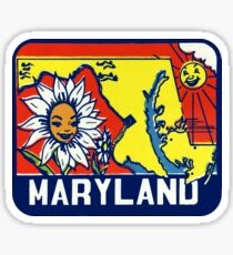Maryland MD State Vintage Travel Decal Sticker