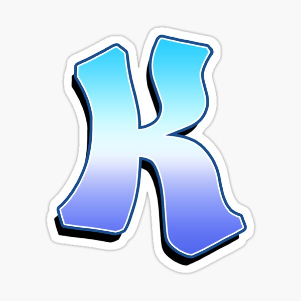 Letter K - Purple / Blue Sticker