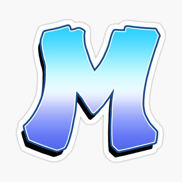 Letter M - Purple / Blue Sticker
