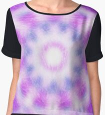 Trendy abstract colorful pattern Chiffon Top