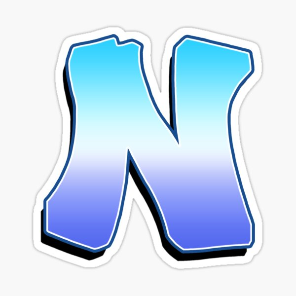 Letter N - Purple / Blue Sticker