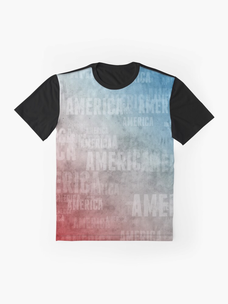 Alternate view of Patriotic America Text Graphic Graphic T-Shirt
