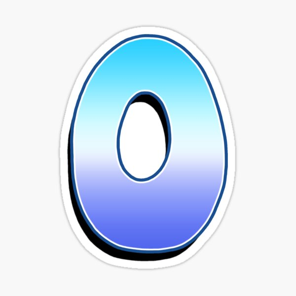 Letter O - Purple / Blue Sticker