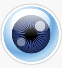 Crazy Blue Eyeball Sticker