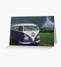 VW Camper Van Greeting Card