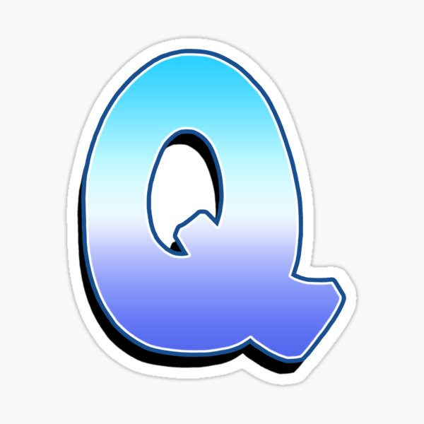 Letter Q - Purple / Blue Sticker