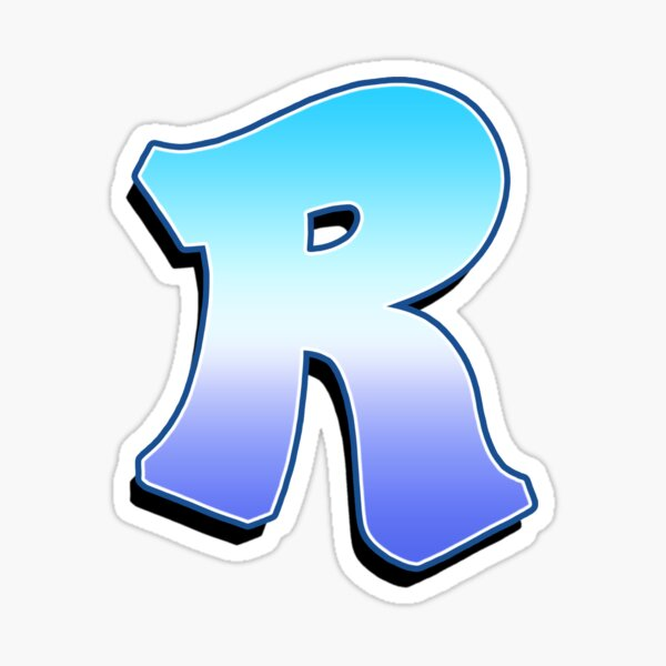 Letter R - Purple / Blue Sticker
