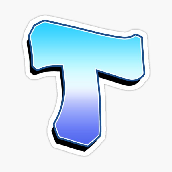 Letter T - Purple / Blue Sticker