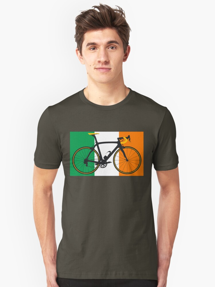 Bike Flag Ireland (Big - Highlight) Unisex T-Shirt Front
