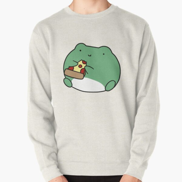 Frog Eating Pizza Pullover Sweatshirt