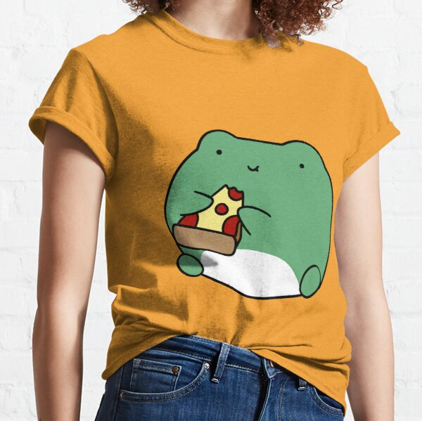 Frog Eating Pizza Classic T-Shirt