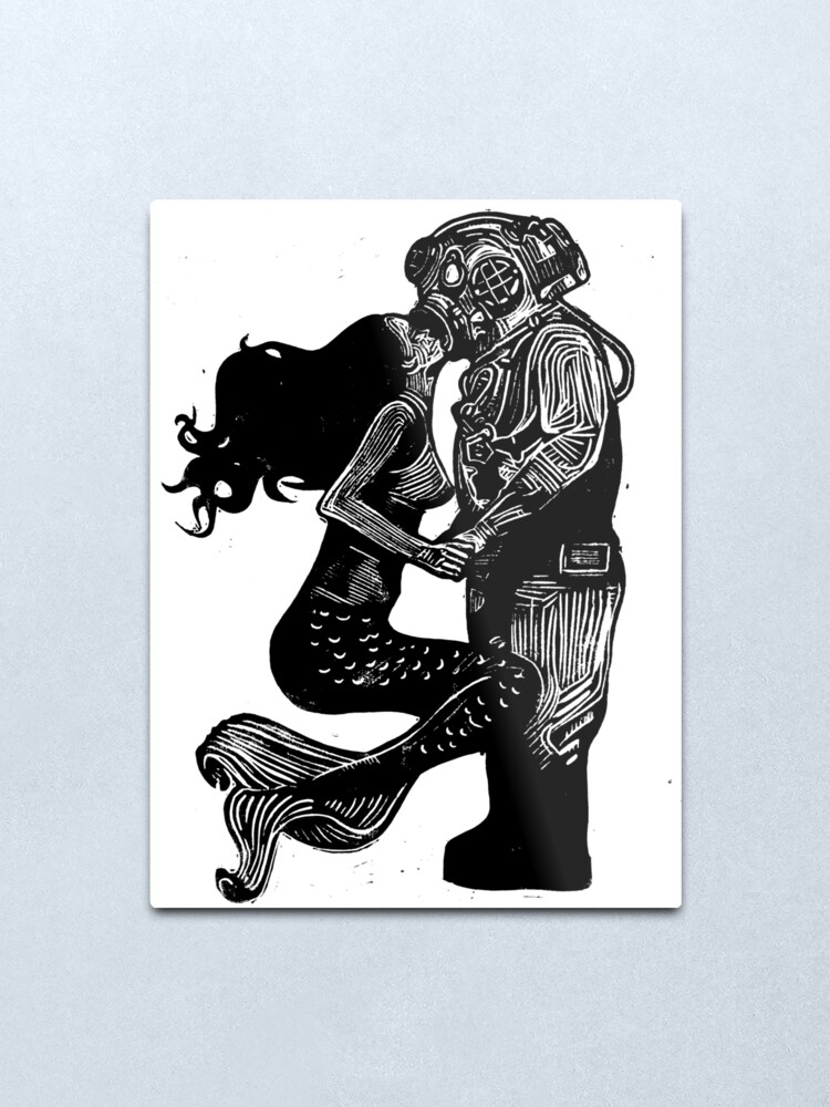 Alternate view of My Underwater Love Metal Print