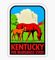 Kentucky KY The Bluegrass State Vintage Travel Decal Sticker