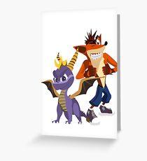 Orange & Purple Greeting Card