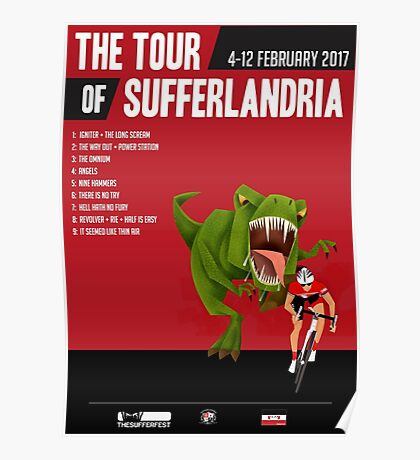 Official Tour of Sufferlandria 2017 Poster - MALE Rider Poster