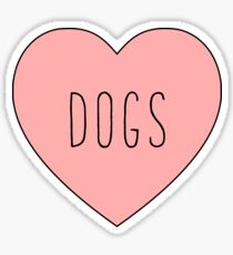 I Love Dogs Heart | Dog  Sticker
