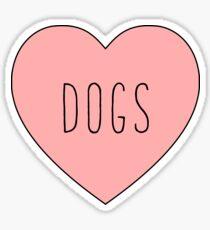 Pegatina Amo el corazón de los perros | Perro