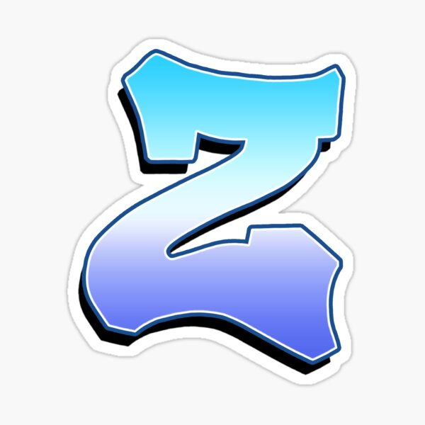 Letter Z - Purple / Blue Sticker