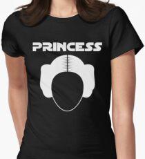 Star Wars Princess Leia Carrie Fisher white Womens Fitted T-Shirt