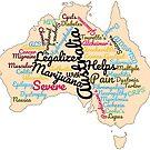 Australia Legalize Marijuana by MarijuanaTshirt