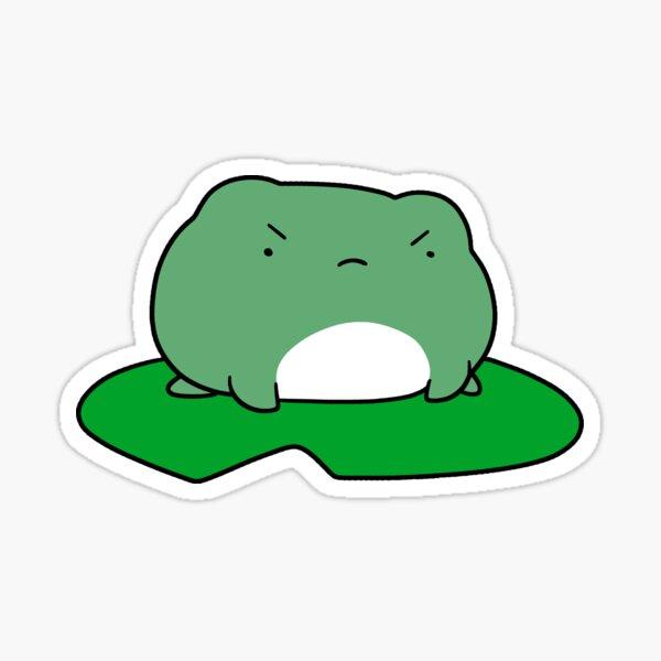 Grumpy Lilypad Frog Sticker