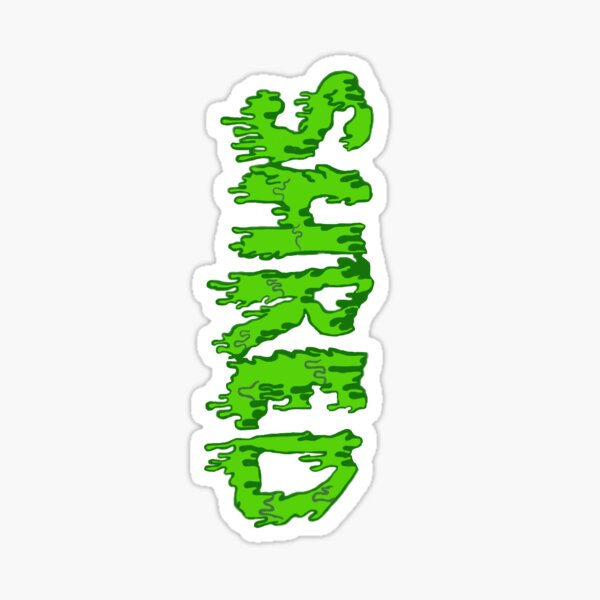 Slime Dripping Shred Sticker