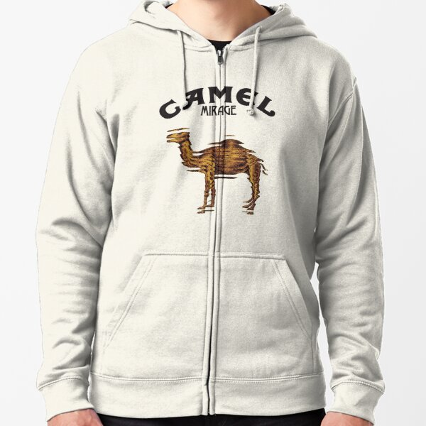 Camel Mirage Band Zipped Hoodie
